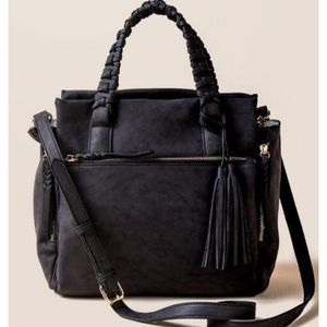 Francesca's Collections Perry Braided Satchel